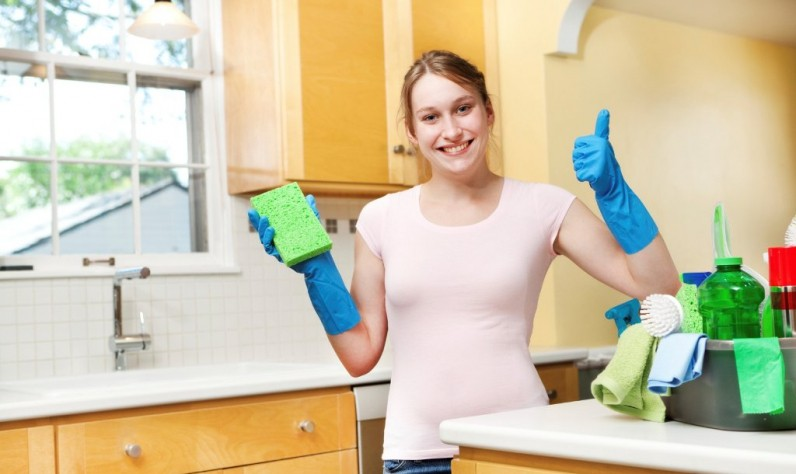 young professional sprucing a residential property